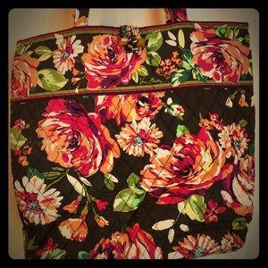 Vera Bradley Tote Bag - English Rose - Brown